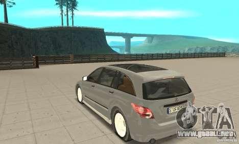 Mercedes-Benz R-Class para GTA San Andreas vista posterior izquierda