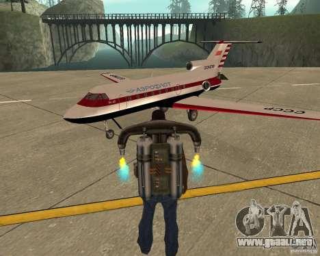 El avión Yak-40 para GTA San Andreas