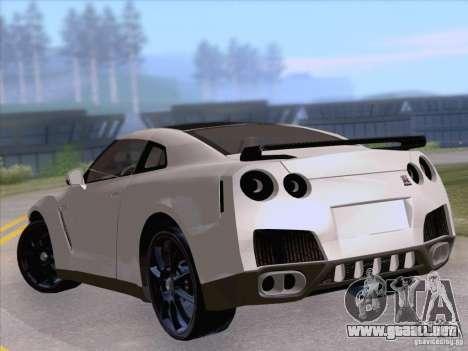 Nissan GTR Edited para GTA San Andreas vista posterior izquierda