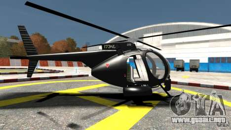 AH-6 LittleBird Helicopter para GTA 4 left