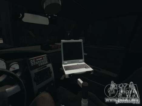 Dodge Charger Slicktop 2010 para GTA 4 vista interior