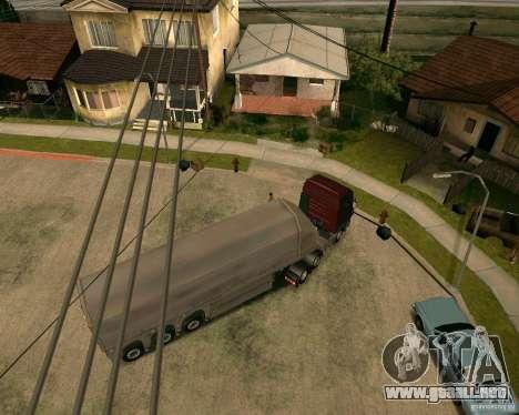 Remolque Steklovoz para GTA San Andreas vista posterior izquierda