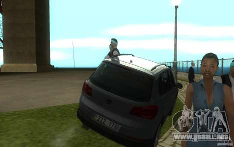 Volkswagen Tiguan 2012 para GTA San Andreas vista hacia atrás