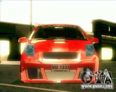 Toyota Yaris para visión interna GTA San Andreas