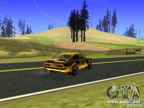 Opel Kadett para GTA San Andreas vista hacia atrás