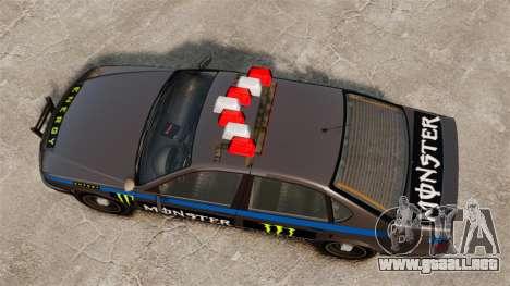Policía Monster Energy para GTA 4 vista hacia atrás
