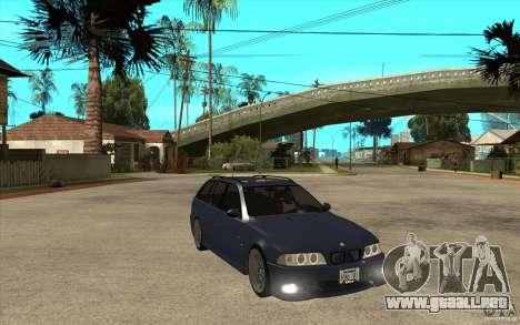 BMW M5 E39 530tdi Touring para GTA San Andreas vista hacia atrás