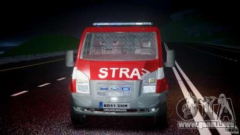 Ford Transit Polish Firetruck [ELS] para GTA 4 vista lateral