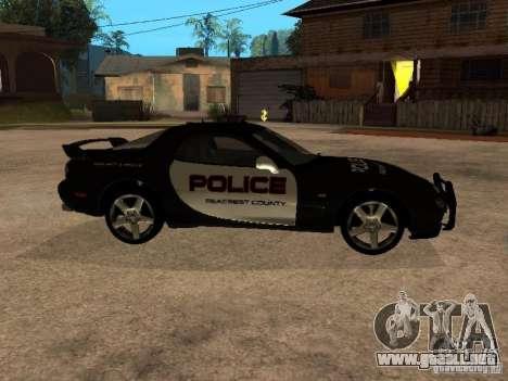 Mazda RX-7 Police para GTA San Andreas left