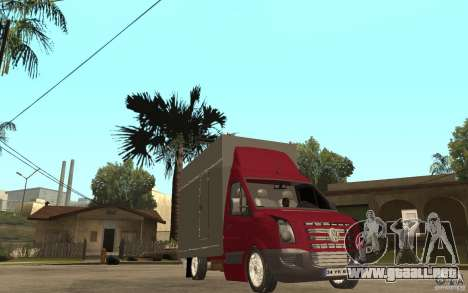 Volkswagen Crafter Case Closed para GTA San Andreas vista hacia atrás