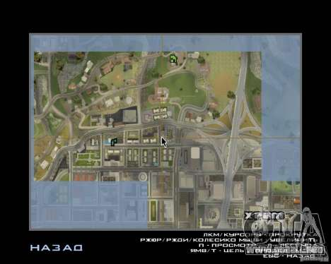 Detailed Map and Radar Mod para GTA San Andreas segunda pantalla
