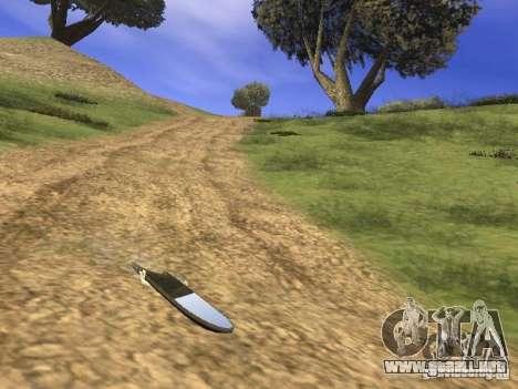 Aèrobord de la película volver al futuro 2 para GTA San Andreas vista posterior izquierda