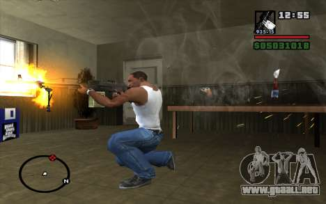 Pechenegos PKP ametralladora para GTA San Andreas tercera pantalla