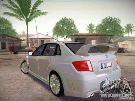 Subaru Impreza WRX STI 2011 Sedan para GTA San Andreas left