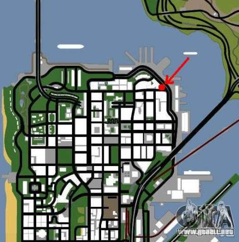 Salón del automóvil para GTA San Andreas segunda pantalla
