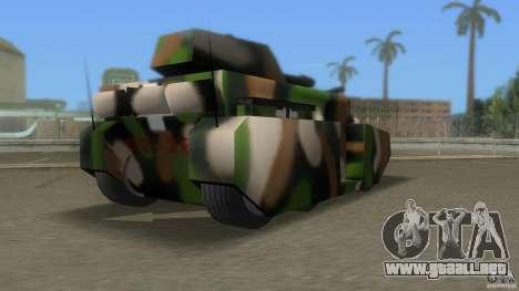 Bundeswehr-Panzer para GTA Vice City sucesivamente de pantalla