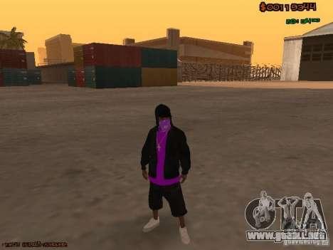 Ballas skins para GTA San Andreas segunda pantalla