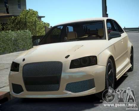 Audi S3 v2.0 para GTA 4 Vista posterior izquierda
