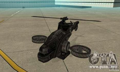 Un helicóptero desde el juego TimeShift Black para GTA San Andreas left