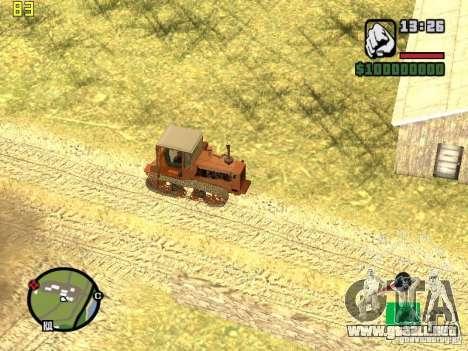 Tractor DT-75 cartero para vista lateral GTA San Andreas