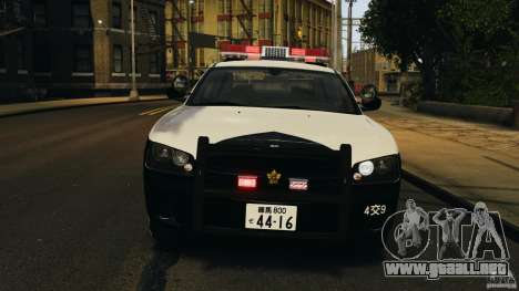 Dodge Charger Japanese Police [ELS] para GTA 4 vista interior