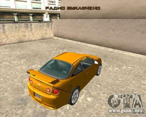 Chevrolet Cobalt SS para GTA San Andreas vista hacia atrás