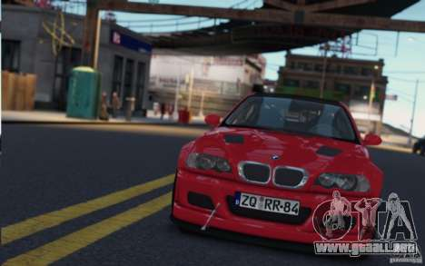 BMW M3 Street Version e46 para GTA 4 vista hacia atrás