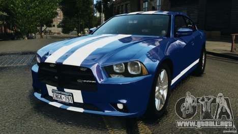 Dodge Charger Unmarked Police 2012 [ELS] para GTA 4