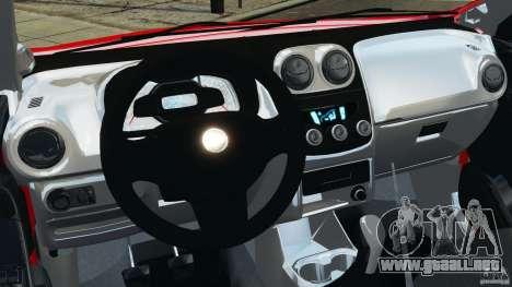 Chevrolet Agile para GTA 4 vista hacia atrás