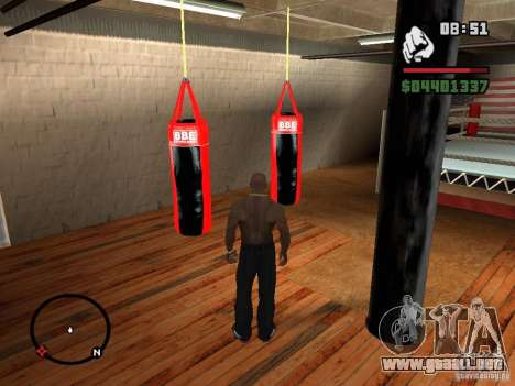 Punshbag para GTA San Andreas segunda pantalla