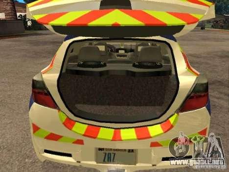 Opel Astra 2007 Police para GTA San Andreas vista hacia atrás