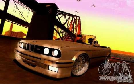 BMW E30 M3 Cabrio para visión interna GTA San Andreas