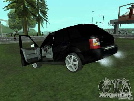 Land Rover Range Rover Sport para GTA San Andreas vista posterior izquierda