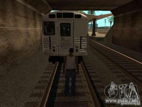 El tren de GTA IV para GTA San Andreas vista hacia atrás