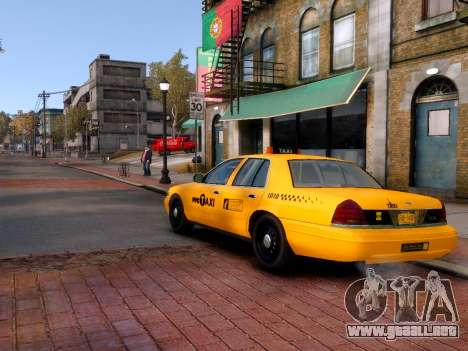 Ford Crown Victoria NYC Taxi 2013 para GTA 4 left