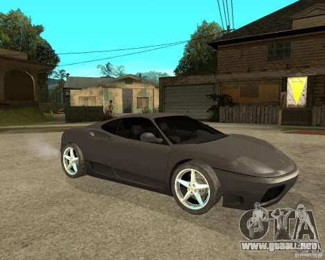 Ferrari 360 modena TUNEABLE para la visión correcta GTA San Andreas