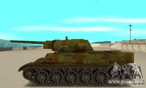 Tanque T-34/76 para GTA San Andreas left