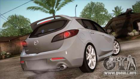 Mazda Mazdaspeed3 2010 para vista inferior GTA San Andreas