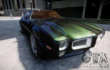 Pontiac Firebird 1971 para GTA 4 vista lateral