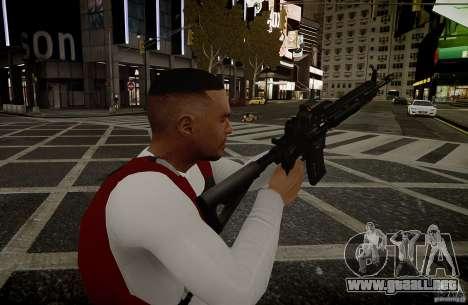 El HK416 (automático) para GTA 4 adelante de pantalla