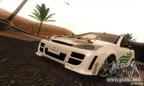 Ford Focus SVT TUNEABLE para visión interna GTA San Andreas