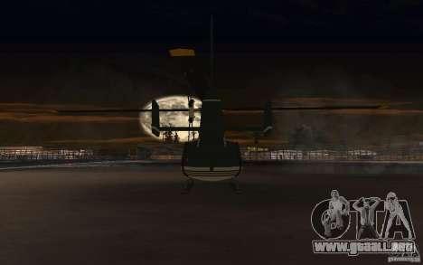 GTA IV Maverick para GTA San Andreas vista hacia atrás