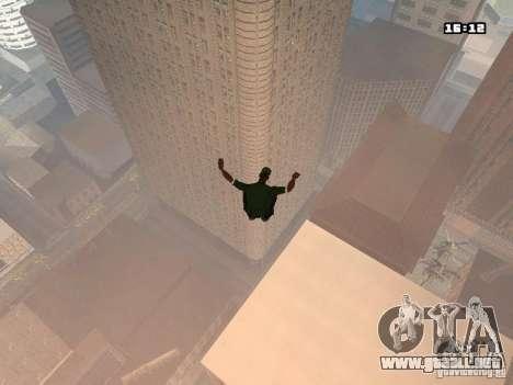 Parkour Mod para GTA San Andreas sucesivamente de pantalla