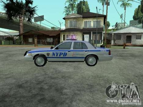 Ford Crown Victoria NYPD para GTA San Andreas left