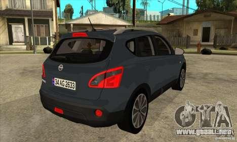 Nissan Qashqai 2011 para la visión correcta GTA San Andreas