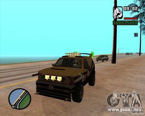 Máquina de auto-muerte muerte para GTA San Andreas sucesivamente de pantalla
