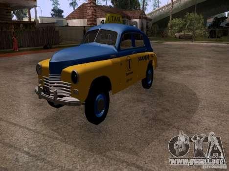 GAZ M20 Pobeda Taxi para la visión correcta GTA San Andreas