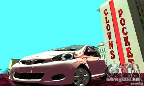 Toyota Aygo V1.0 para visión interna GTA San Andreas
