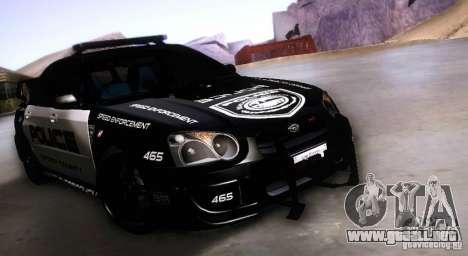 Subaru Impreza WRX STI Police Speed Enforcement para GTA San Andreas