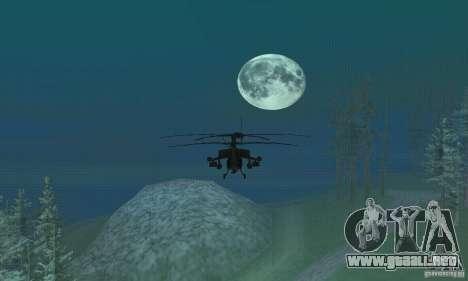 Alrededor de la luna para GTA San Andreas segunda pantalla